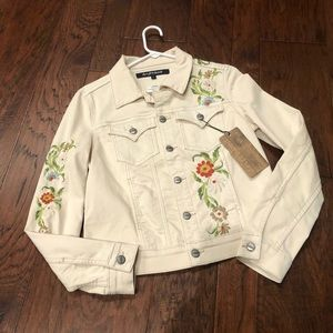 Driftwood Embroidered Jean Jacket NWT